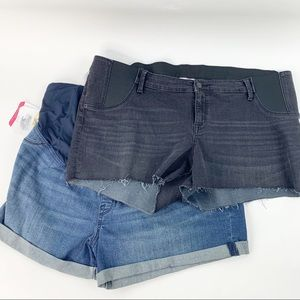 2 pairs size 18 Isabel Maternity Jeans Shorts New